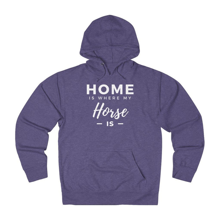 Printify Hoodie Purple Heather / L Home is Where My Horse Is Lightweight Premium Hoodie