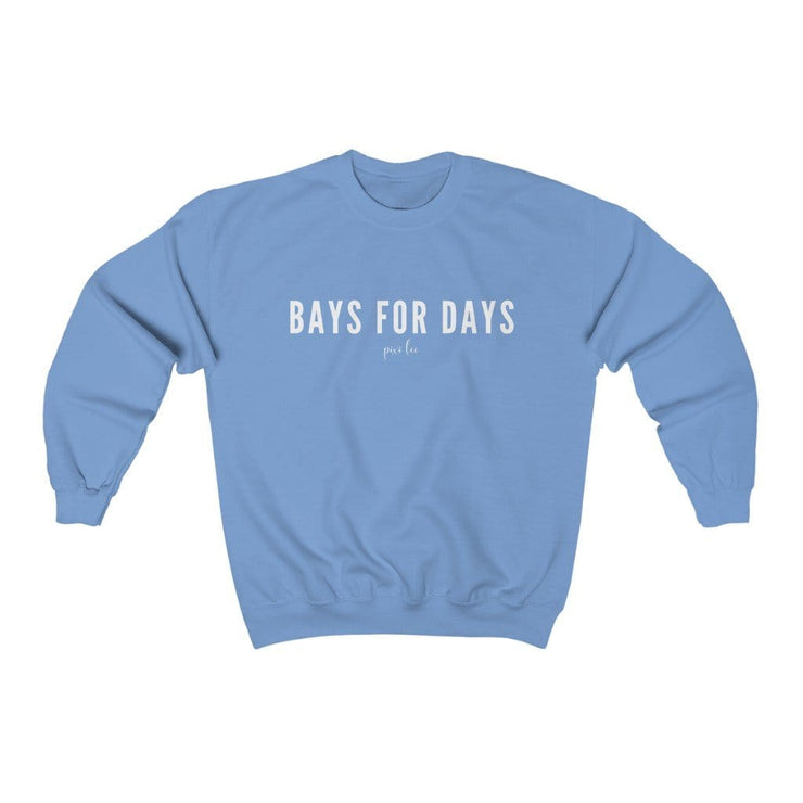 Pixi Lee Sweatshirt Carolina Blue / S Bays for Days Sweatshirt