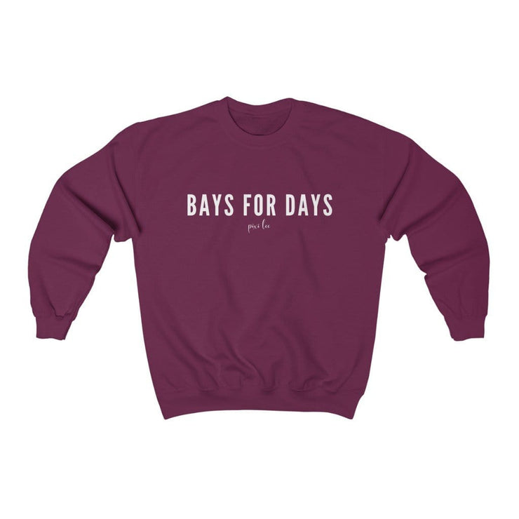 Pixi Lee Sweatshirt Maroon / L Bays for Days Sweatshirt
