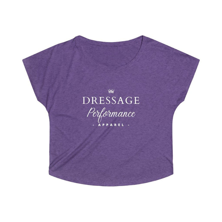 Printify T-Shirt S / Tri-Blend Purple Rush Dressage Performance Apparel Oversized Tri-Blend Tee