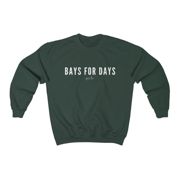 Pixi Lee Sweatshirt Forest Green / S Bays for Days Sweatshirt