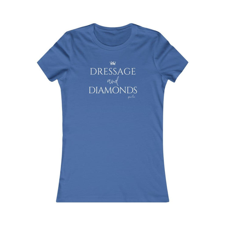 Pixi Lee T-Shirt True Royal / S Dressage & Diamonds Ladies Favorite Tee