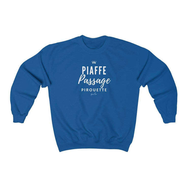 Printify Sweatshirt Royal / S Piaffe Passage Pirouette Sweater