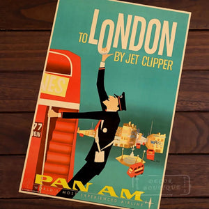 Affiche Pan Am Londres pop art