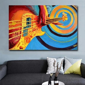 Peinture pop art Le Guitariste