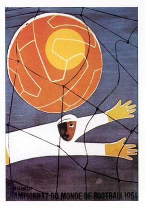 affiche coupe du monde de football 1954
