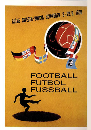 Poster coupe du monde de football 1958