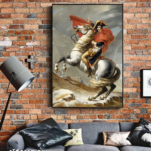 Toile poster Bonaparte franchissant les Alpes - Jacques Louis David