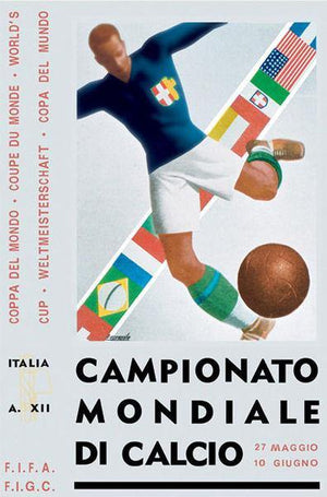 Affiche coupe du monde de football 1934