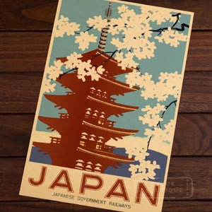 Poster vintage Japan railways
