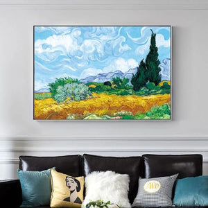 Printed canvas VAN GOGH the wheat field