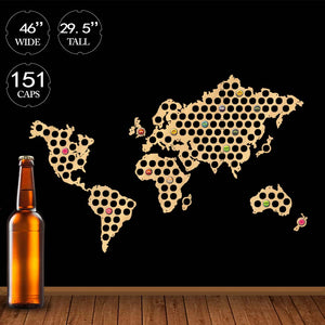 World map beer cap