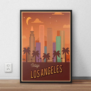 Poster vintage Los Angeles Californie