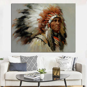 Tableau coiffe indienne sioux