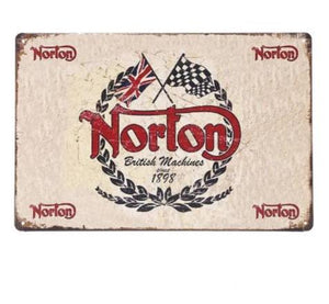 plaque metal norton
