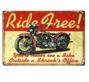 Plaque métal vintage Moto Norton Affiche garage bar