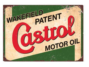 Plaque metal castrol