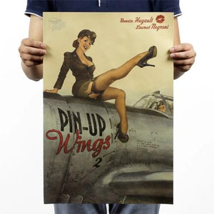 Pin up wings poster