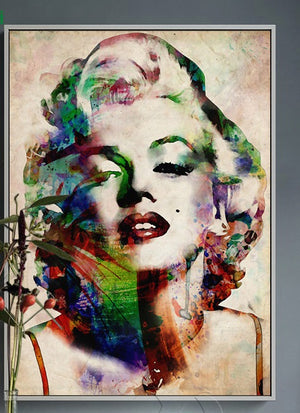 Peinture portrait Marilyn Monroe pop art