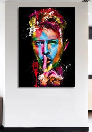 Tableau : portrait David Bowie pop art