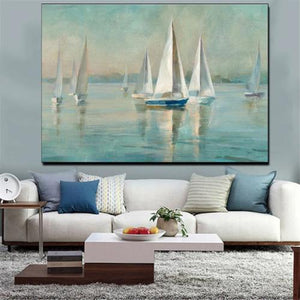 Nordic canvas seascape