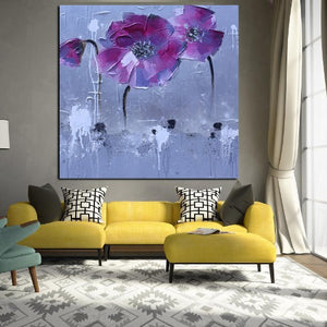 Peinture abstraite floral pop art