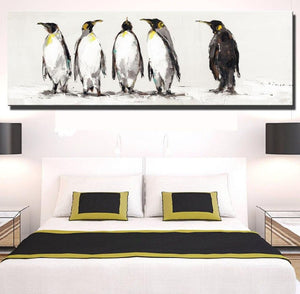 Canvas the penguins of Antarctica