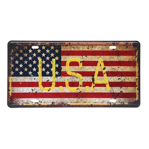 Country flag vintage license plate Home Decor