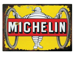 plaque metal michelin