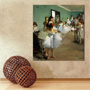 Painting reproduction of the dance class Edgar Degas