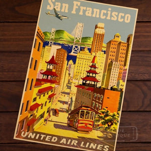 Affiche united airlines san francisco