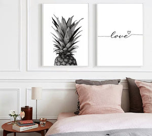 Affiche nordique Ananas citation d'amour