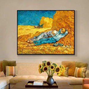 Canvas Van Gogh the nap on the farm