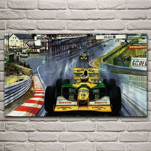 Toile F1 Benetton Michael Schumacher