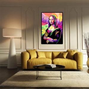 Toile colorée de Mona Lisa pop art
