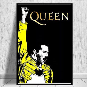 Affiche Freddie Mercury groupe Queen