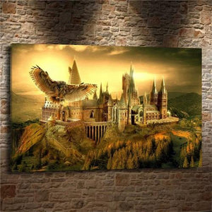 Toile le chateau d'Alnwick  d'Harry potter