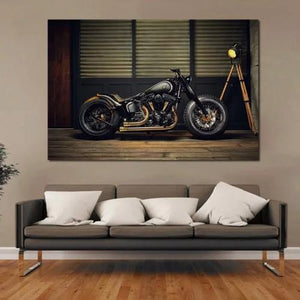 Toile moto chopper hot rod home déco
