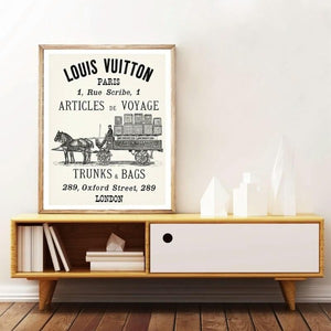 Affiches vintage Louis Vuitton Hermes
