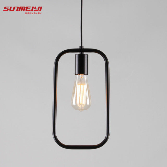 Nordic Style Pendant Lighting Home Decoration Modern Minimalist Hanging Lights Art Fixtures Ambilight Wrought Iron Lamp Lampara