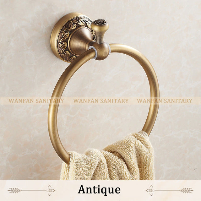 New Arrival Euro style Wal-mount Antique Bronze Towel Ring Classic Bathroom Accessories Bath Towel Holder Bath Hardware 3707F