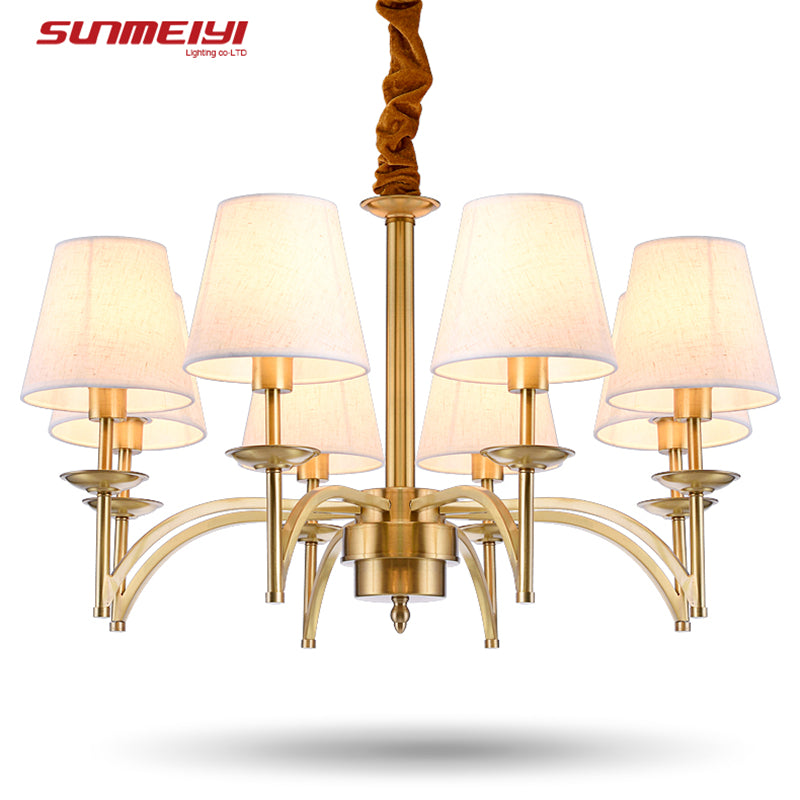 Modern Luxury Chandelier Modern Lamp With Lampshade Pendant Chandelier Light Fixtures lustres de teto para sala