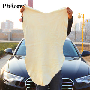 Free Shipping Drying Cleaning Towel Natural Genuine Leather Chamois Shammy Sponge cloth Sheepskin Absorbent Towel Car Washing