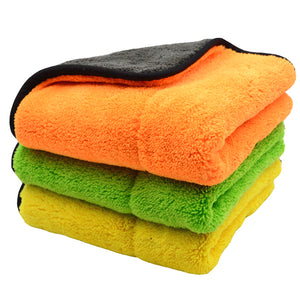 3PCS 800GSM 45cmx38cm Super Thick Plush Microfiber Car Cleaning Cloths