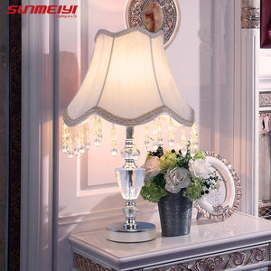 Desk Table Lamp crystal K9 home lights decor table lights bulb lamp modern home decoration table lamps bedroom bedside lamp E27