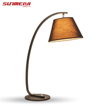 hot sell desk lamp Home Decoration Romantic modern bedroom light fabric table lamps for Living Room Bedroom reading room