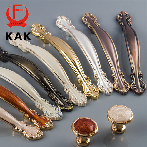KAK 10pcs/lot Bronze Amber Wardrobe Door Pulls 64mm Dresser Drawer Handles Cupboard Handle Cabinet Knobs Furniture Handles