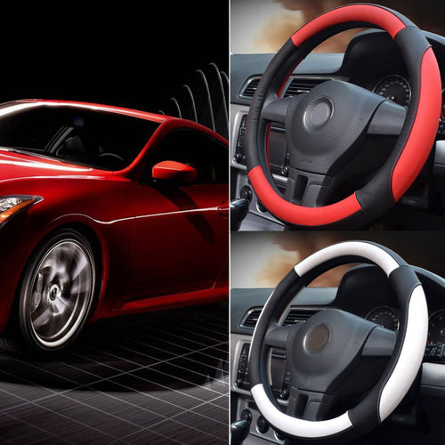 2 Color Universal Car Steering Wheel Cover.