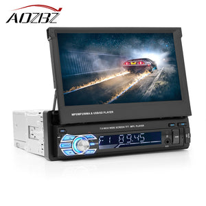 "AOZBZ 7"" Retractable GPS Bluetooth Navigation Car Stereo."