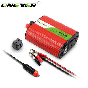 DC 12V to AC 110V 400W Car Power Inverter Converter Modified Sine Wave Power with 3.1A Dual USB 5V Output Built-in External Fuse